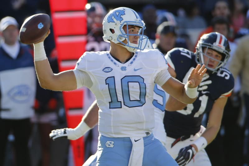 Mitch Trubisky spent one season as a starter at North Carolina before going pro and becoming the No. 2 overall pick.