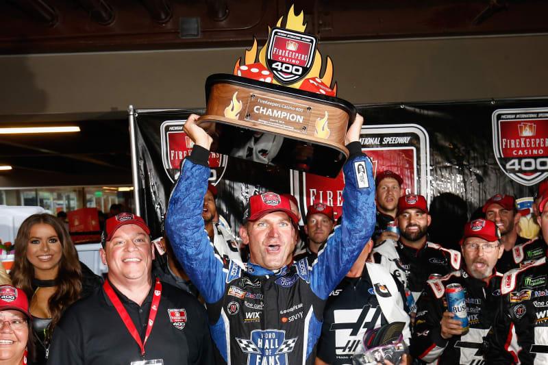 NASCAR 2018 CLINT BOWYER #14 MICHIGAN RACE WIN HAAS 30 YEARS OF VF1 1//24 CAR