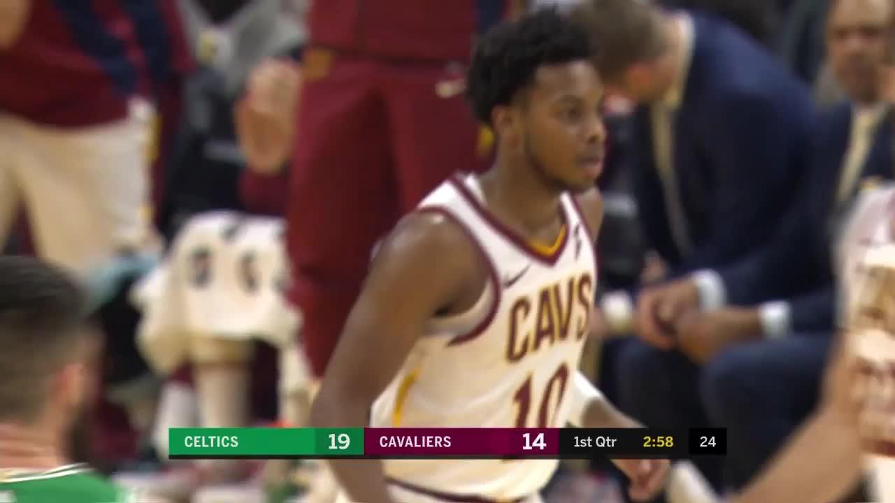Darius Garland with a Deep 3' vs. Celtics