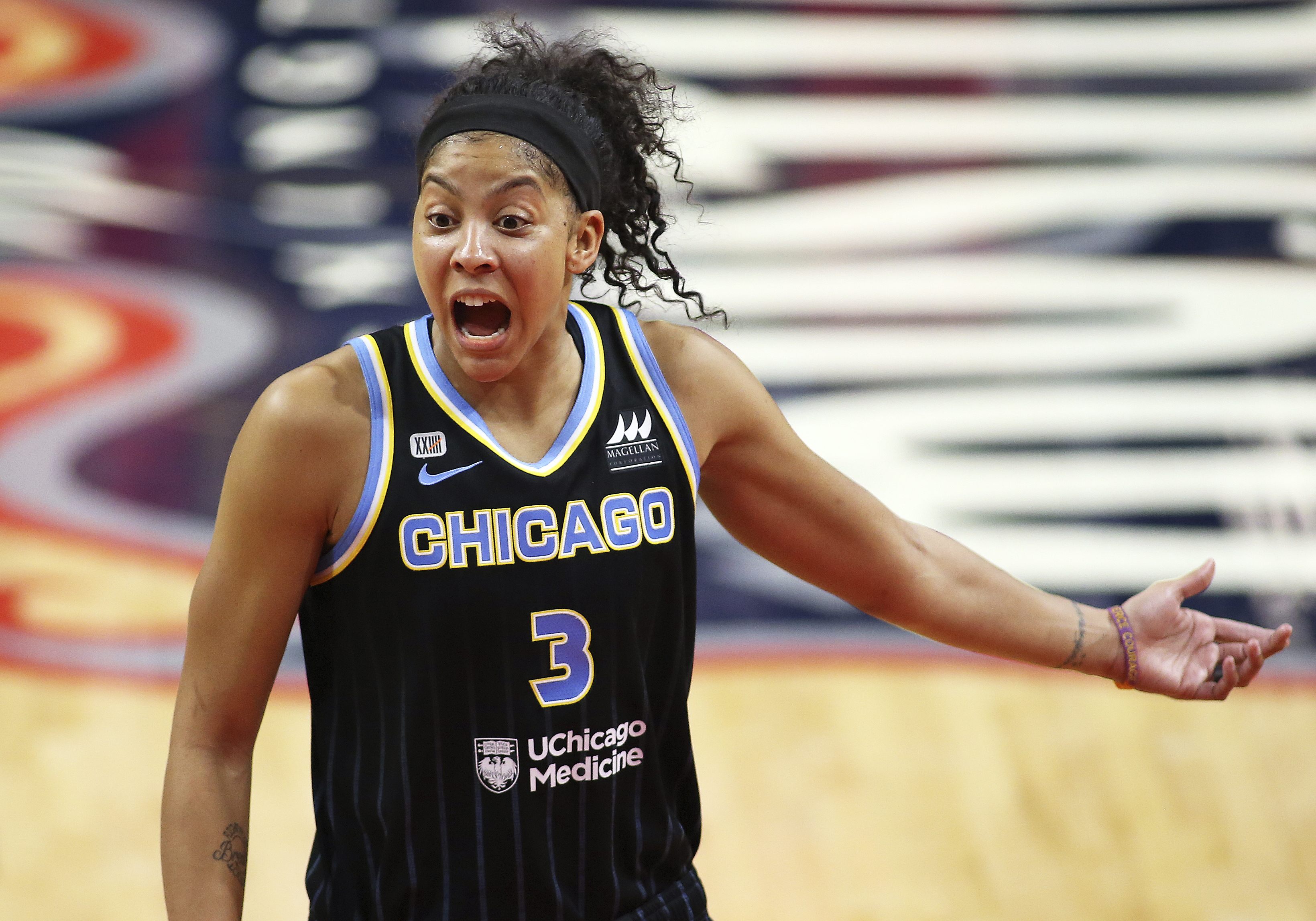Sky's Candace Parker out vs. Sabrina Ionescu, Liberty with Ankle Injury