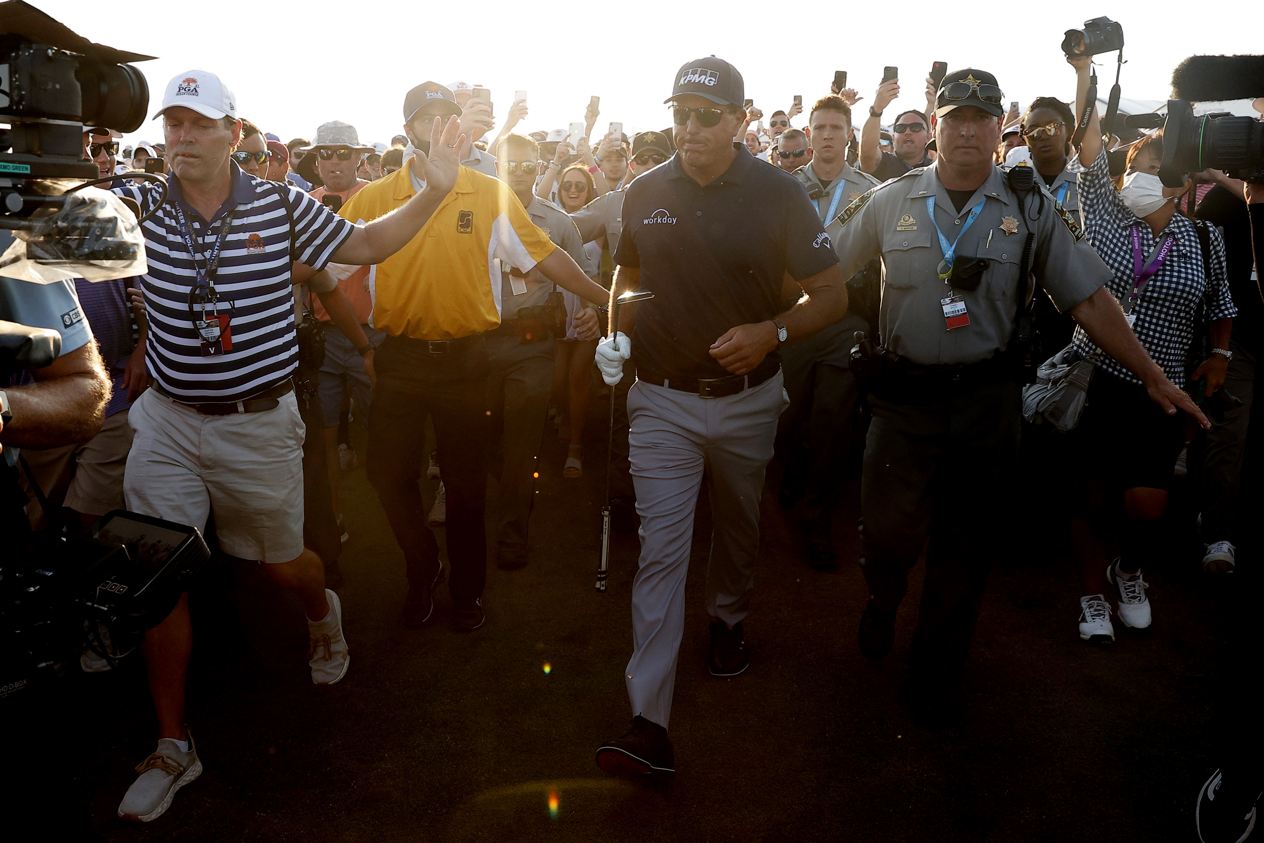 PGA of America Apologizes to Mickelson, Koepka for Swarm of Fans at PGA Championship thumbnail