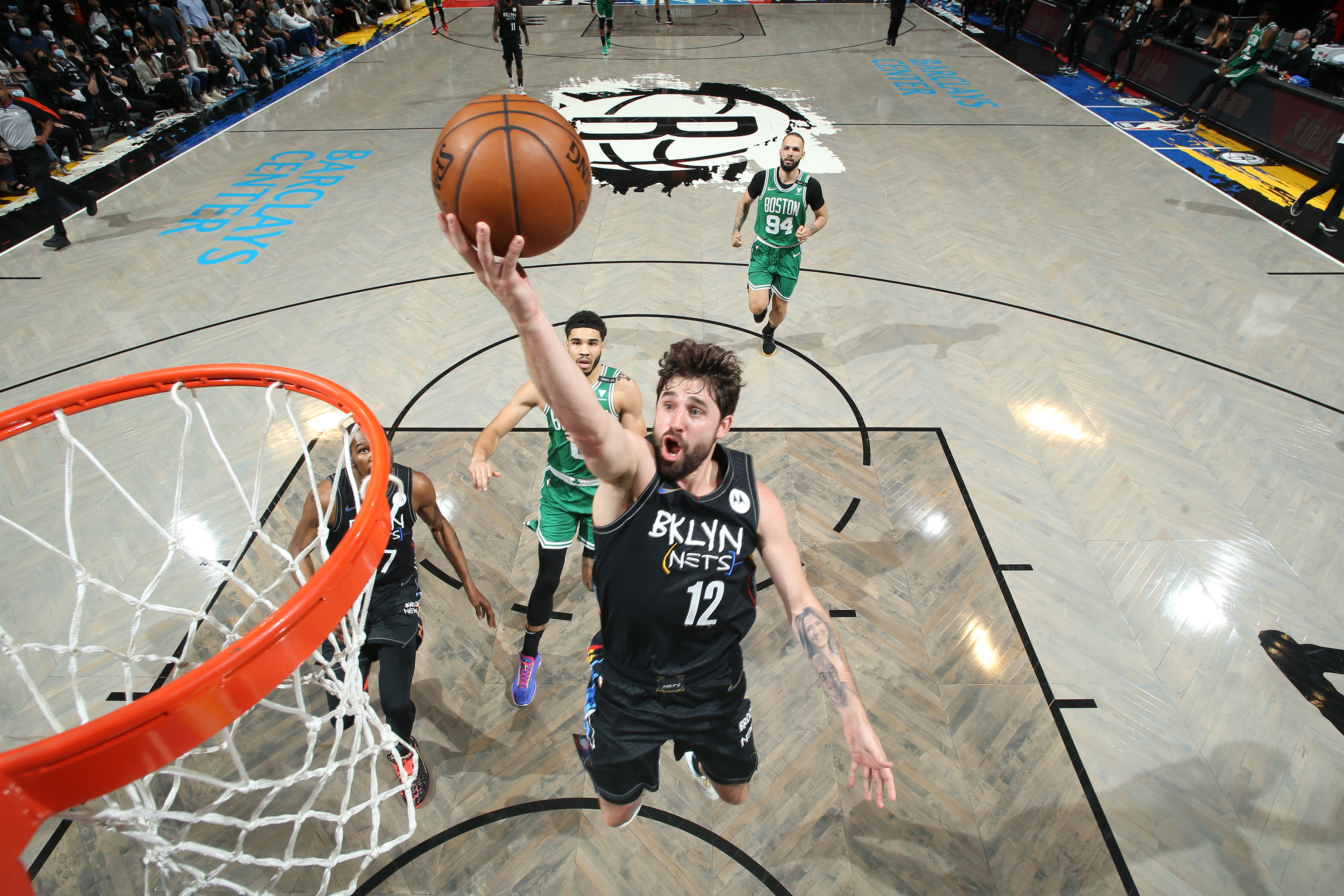 <p>Kevin Durant: Joe Harris' Shooting'Unlocks Our Whole Team' After Nets' Game 2 Win thumbnail