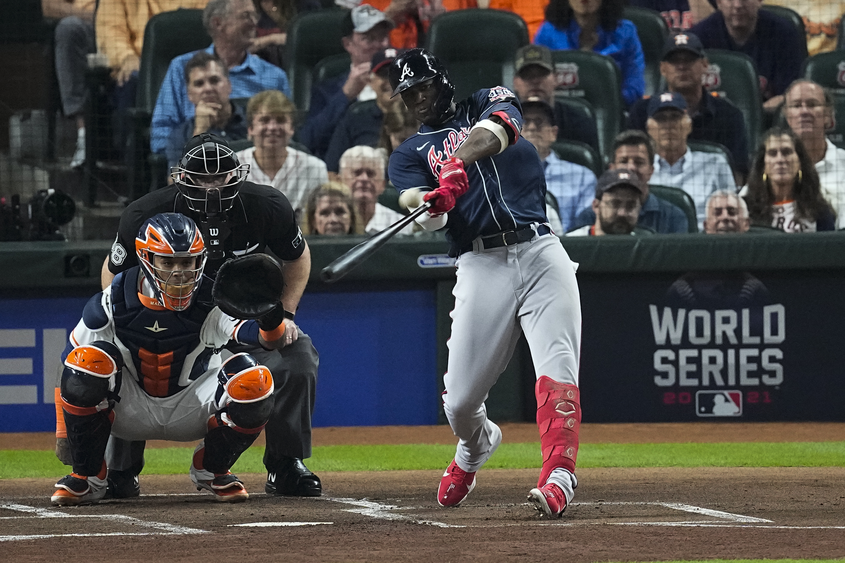 Jorge Soler, Adam Duvall Lead Braves to World Series Game 1 Win vs. Astros