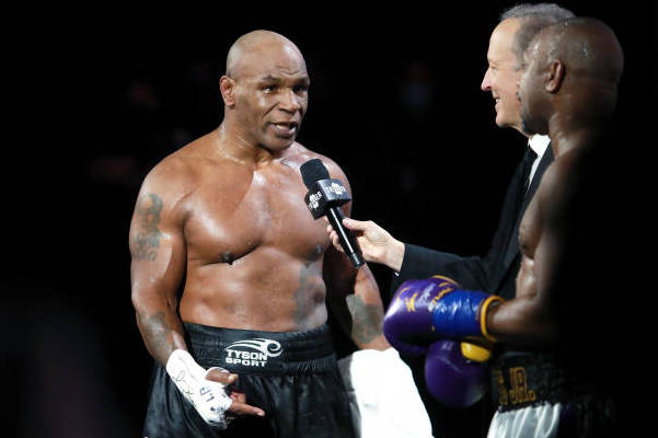 <p>Mike Tyson: Jake Paul Would Get Beat Up'Pretty Bad' at Floyd Mayweather Jr.. </p>Fight thumbnail