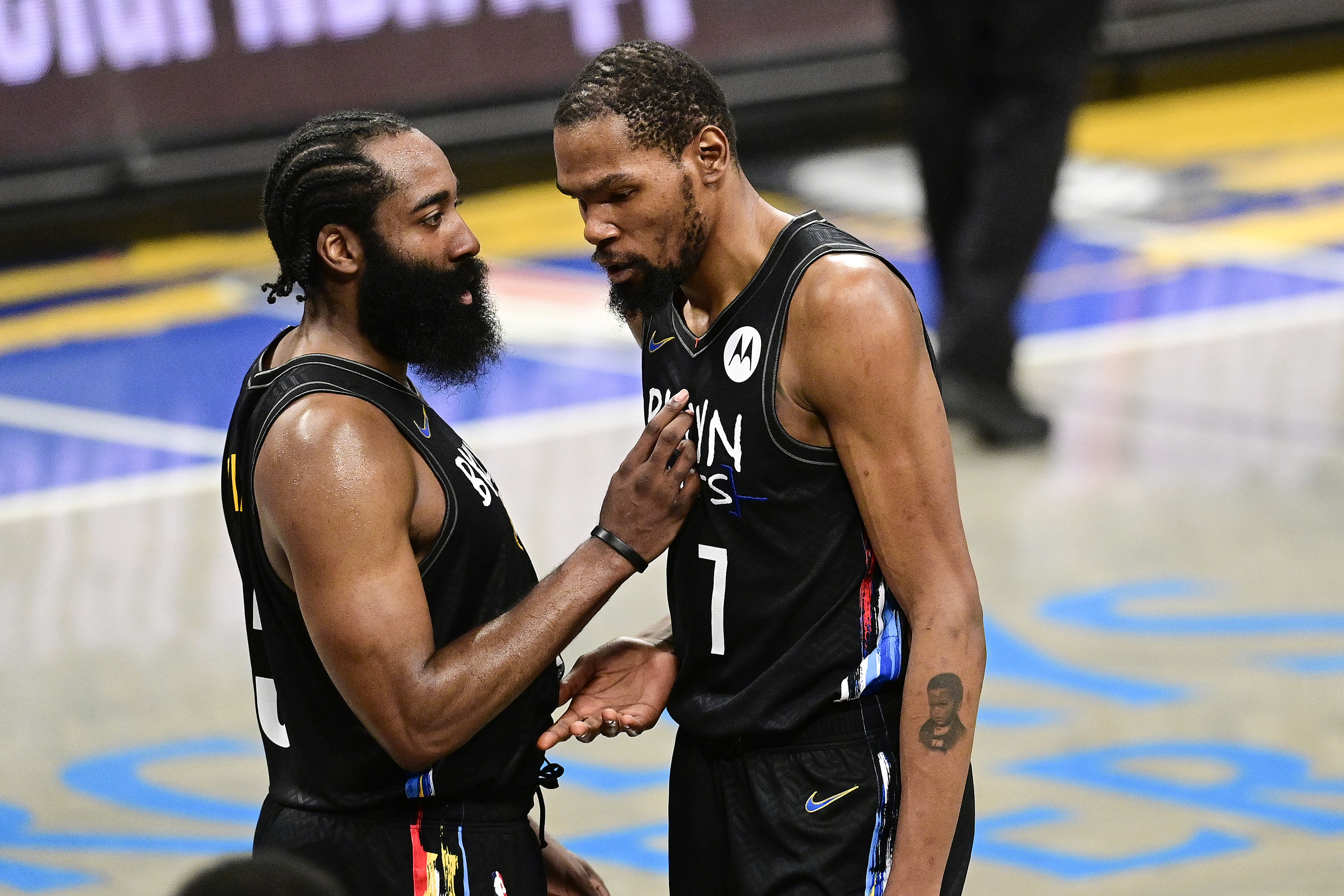 <p>Nets' Kevin Durant on James Harden Injury: 'S--t Sucks. </p>... I Know How Much He Cares' thumbnail