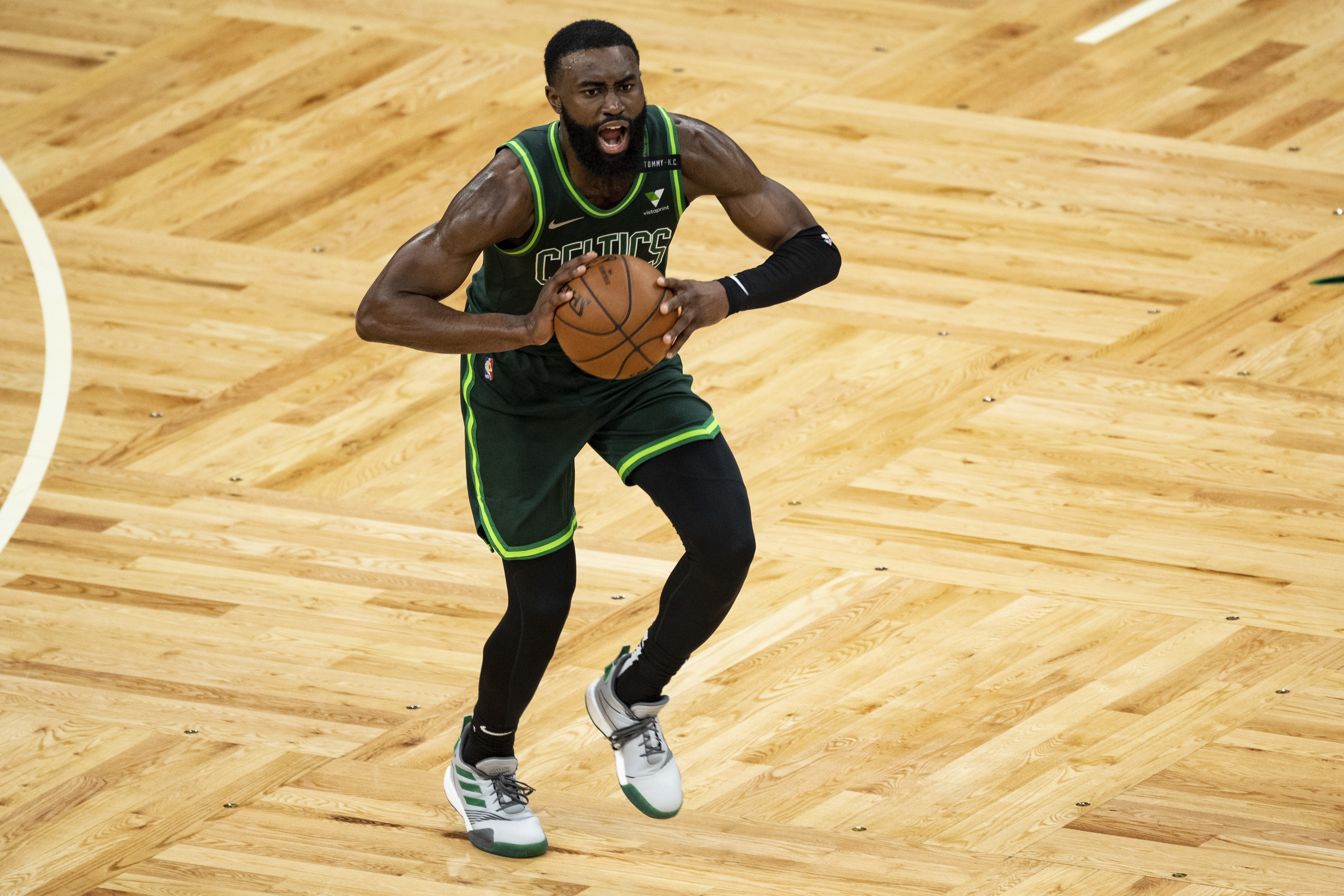<p>Jaylen Brown: Systemic Racism Is Bigger Than Celtics vs. Nets Playoff Game thumbnail