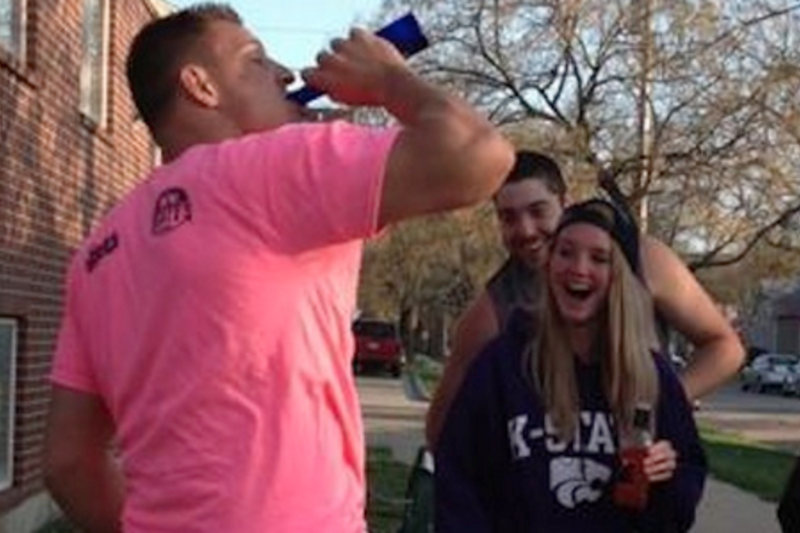 Rob Gronkowski Goes Back to College, Chugs Brews and Gives Too ...