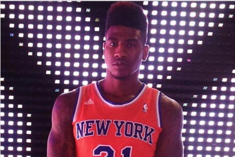 Is Iman Shumpert Wearing an Orange New York Knicks Jersey of the ...