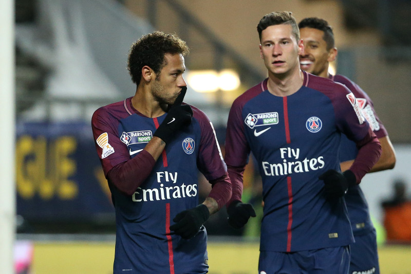 Report: Neymar, Julian Draxler Had to Be Separated After Dressing ...