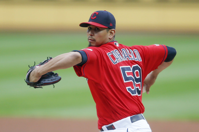 Carlos Carrasco Cleveland Indians Spring Training Baseball Player Jersey