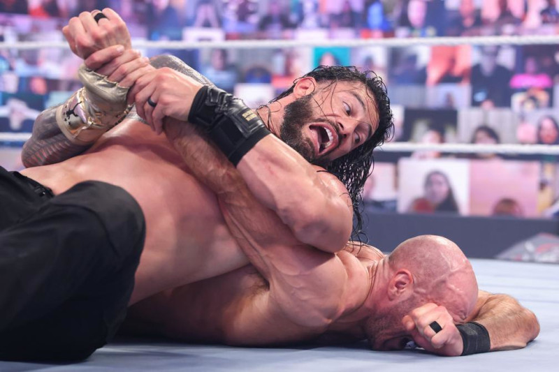 Cesaro lost to Roman Reigns at WWE WrestleMania Backlash.